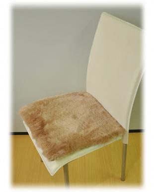 ブラウン  ムートン短毛シートクッション 40×40cm見る