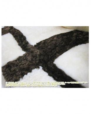 ブラウン  ジーラム短毛ムートン敷きパッド シングル 100×200cm見る