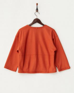 オレンジ ジャージー羽織りジャケット見る