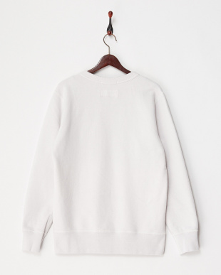 ホワイト  クルーネックスウェットシャツ見る