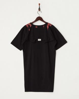 ブラック  リメイク風Tシャツ見る