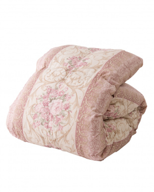 柄ピンク  国産羽毛布団 ロイヤルゴールドラベル ホワイトダウン93%(シングル)見る