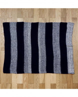 Stitch Stripe  ブランケット(ローゲージ) 70×100cm見る