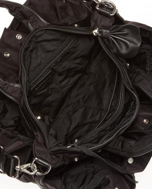 ブラック  ギャザーポケットバッグ見る