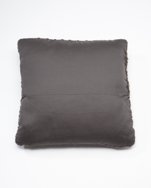 Charcoal Knitted Cushion見る