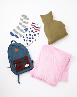 HAPPY BAG Harris Tweed バックパック+ブランケット+ねこもちもちクッション+star-socks2足組見る