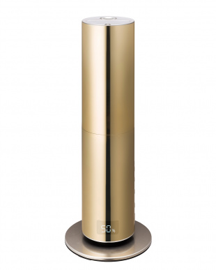 ゴールド  クレベリンLED搭載 ハイブリット加湿器見る