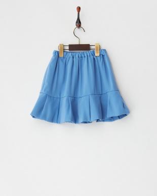 ライトブルー タック切り替えスカート見る