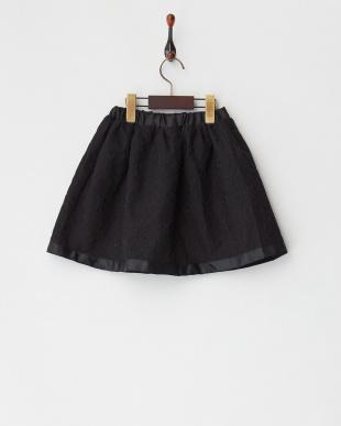 ブラック フラワーレーススカート見る