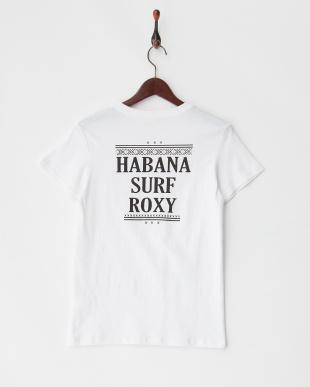 ホワイト  HABANA SURF ROXY ポケット付きTシャツ見る