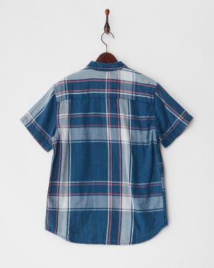 ブルー BELMAR BACKS ダブルフェイスチェックシャツ見る