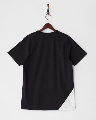 ブラック  NEW WAVE ST 切り替えクルーネックTシャツ見る