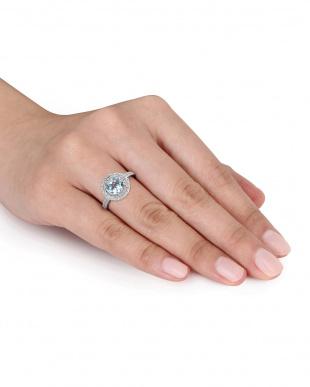 ダイヤモンド+ブルートパーズ スカイ ラウンド リング見る