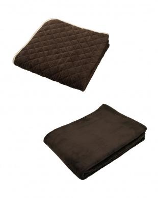 ブラウン  NISHIKAWA LIVING HAPPY BAG(マイクロファイバー敷きパッド+軽量毛布セット シングル)見る