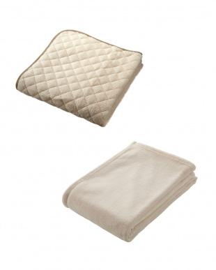 クリーム  NISHIKAWA LIVING HAPPY BAG(マイクロファイバー敷きパッド+軽量毛布セット シングル)見る