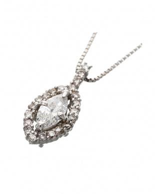 Pt 天然ダイヤモンド 計0.3ct up プラチナ ネックレス見る