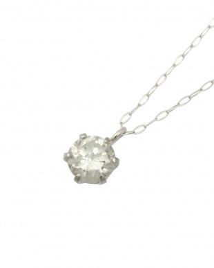 Pt900 天然ダイヤモンド 0.3ct プラチナネックレス見る