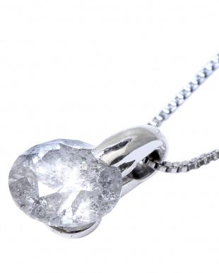 Pt900/Pt850 Pt 天然ダイヤモンド 0.5ctアップ ワンポイント留め プラチナネックレス見る
