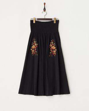Black 2WAY刺繍スカート見る