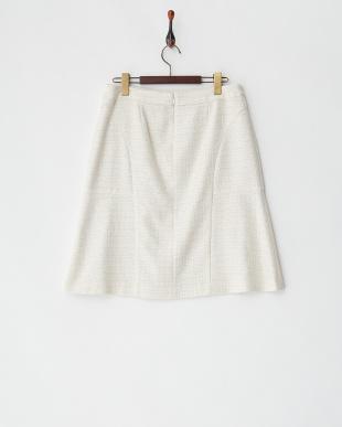 ベージュ ティントツィードスカート見る