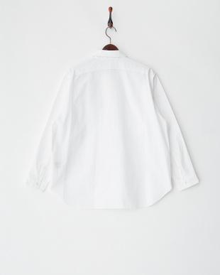 ホワイト  ビッグフォルムコットンシャツ見る