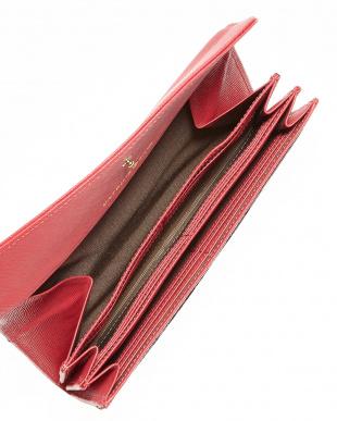 ピンク  クィーンチェック ギャルソン長財布見る