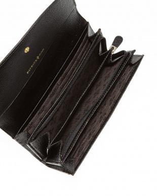 ブラック  ビジューカルテットリリー 長財布見る