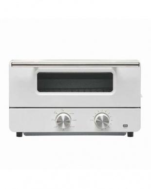 ホワイト  スチーム機能付きオーブントースター見る