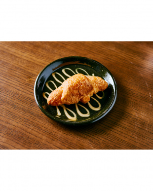 ブラウン  日本製 美濃焼 スリップウェアプレート 2枚セット見る
