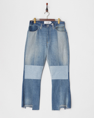 ブルー RM-#835 BLUE リメイクデニムパンツ見る