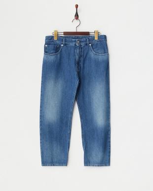 BLUE LT デザインポケットデニムパンツ見る