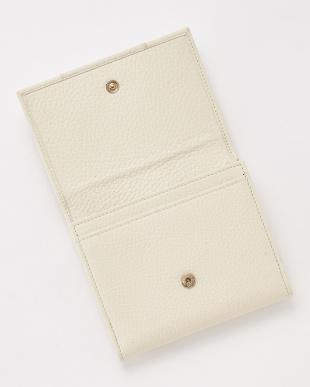 ホワイト Wホック財布見る
