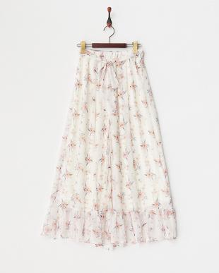 OFF WHITE 裾フリル花柄パンツ見る