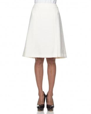 オフホワイト  ライトツイード スカート見る