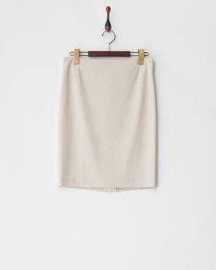 ライトベージュ系 グログランストレッチタイトスカート見る