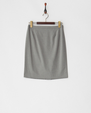グレー ロザージュジャージータイトスカート見る
