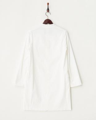 オフホワイト  デザインカラーツイルコート見る