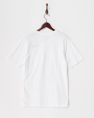 ホワイト  カリフォルニアコットンVネックTシャツ見る