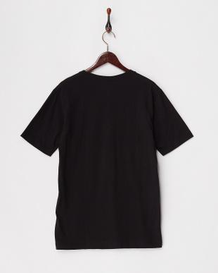 ブラック  カリフォルニアコットンVネックTシャツ見る