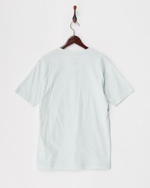 ライトブルー  カリフォルニアコットンVネックTシャツ見る