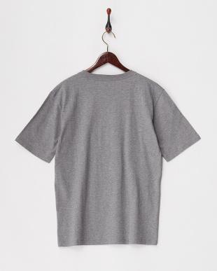 グレー  フラワーエンブロイダリーTシャツ見る