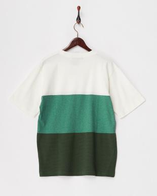 グリーン  ミックス3パネルTシャツ見る