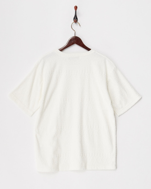 オフホワイト  ジャカードパイルTシャツ見る