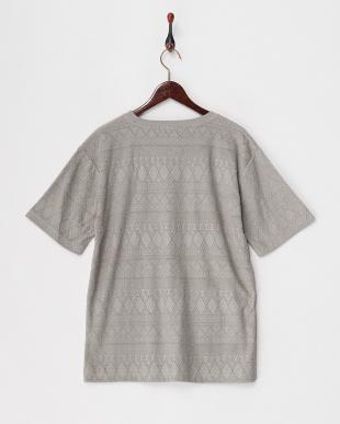 グレー  ジャカードパイルTシャツ見る