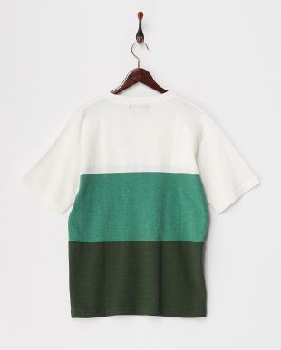 グリーン  MIXパネルTシャツ見る