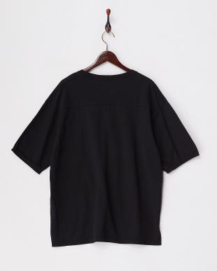 ブラック  リラックスフィットスウェットTシャツ見る
