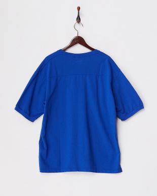 ブルー  リラックスフィットスウェットTシャツ見る