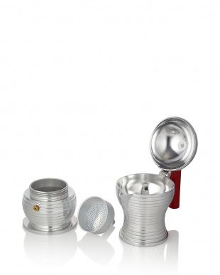 レッド  Pulcina エスプレッソコーヒーメーカー 3カップ用(150mL)見る