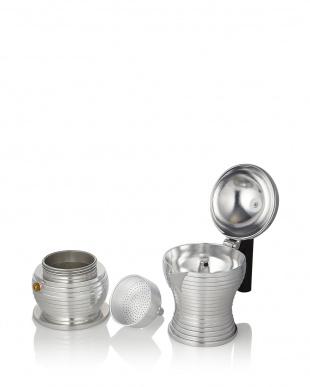 ブラック  Pulcina エスプレッソコーヒーメーカー 3カップ用(150mL)見る