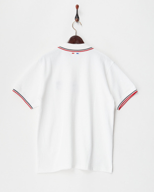 90/無彩色A(ホワイト)  エンブレム刺繍ポロシャツ見る